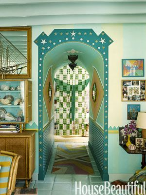 Clever: Paintings Benjamin, Chinese Lanterns, Arches Doorway, Design Tricks, Beads Curtains, Wool Rugs, Hallways Ideas, Diffuser Lights, Gene Meyer