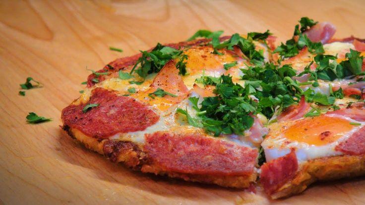 Бекон, Яйцо, Салями и свежая Моцарелла, Вкусный Завтрак