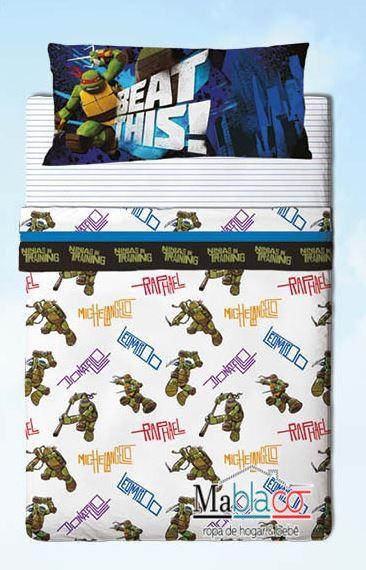 Juego de Sábanas Tortugas Ninja. ¡Pin it!