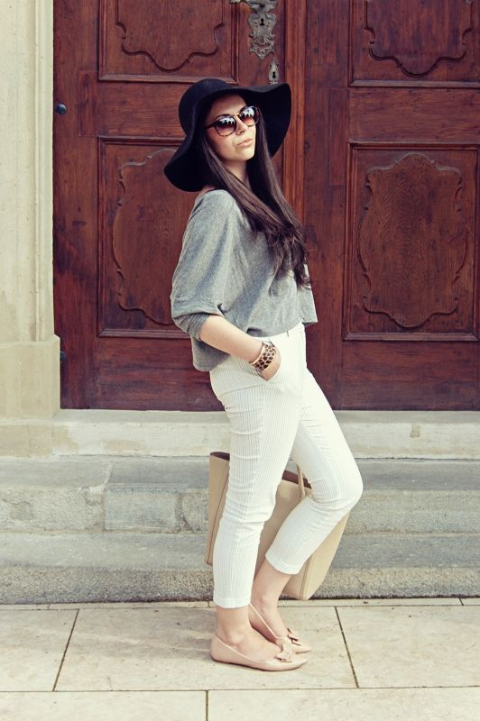 Bernadett is wearing F&F and Mango in Debrecen