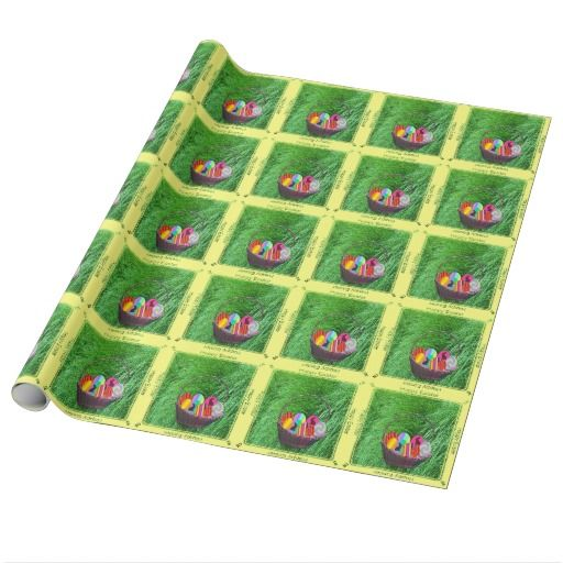 Easter Basket with colorful eggs Gift Wrapping paper