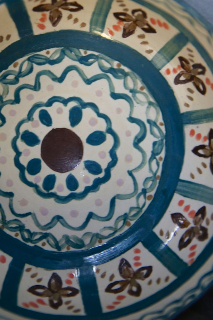 Detail on one of potter Olivia Romero's bowls. http://www.theclaylady.com