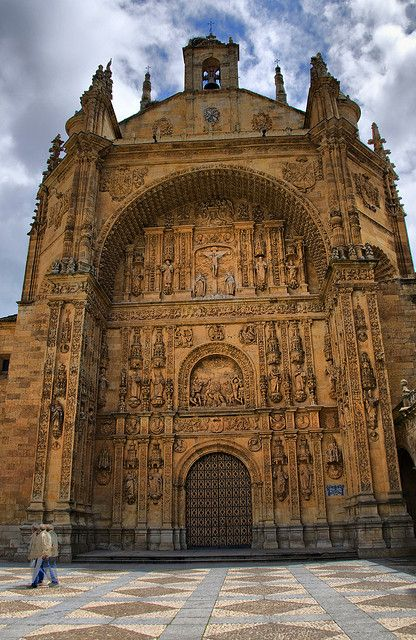 Facade of St. Stephan Monastry Salamanca Spain