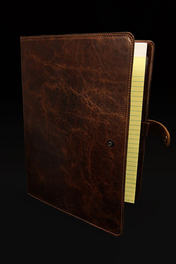 Leather Portfolio folder style by EthosCustomBrands on Etsy