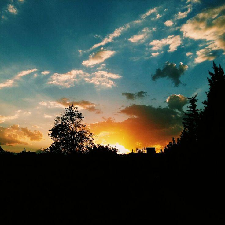 Sunset in Urmia's garden_Iran