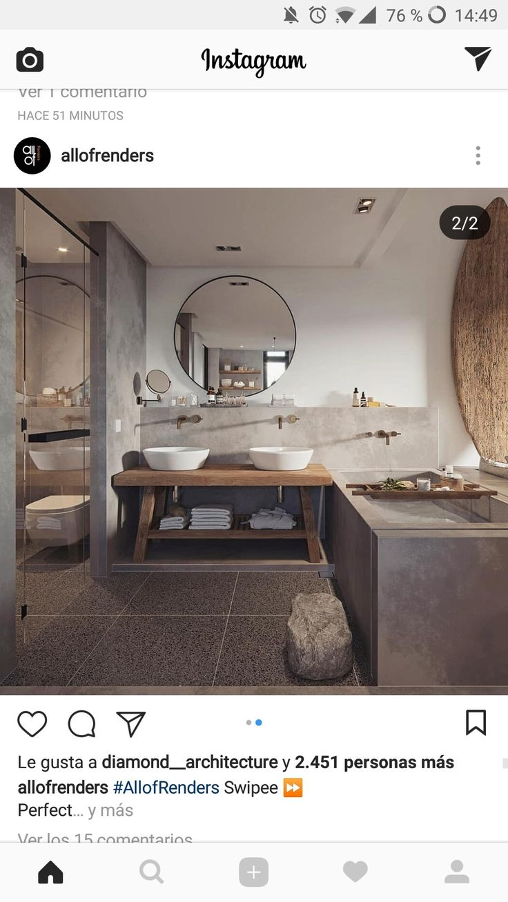 Ideenstil und Materialien des Badezimmers im Erdgeschoss