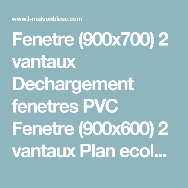 Fenetre (900x700) 2 vantaux Dechargement fenetres PVC Fenetre (900x600) 2 vantaux Plan ecologique (menuiserie PVC) Matiere synthetique (fenetres PVC)