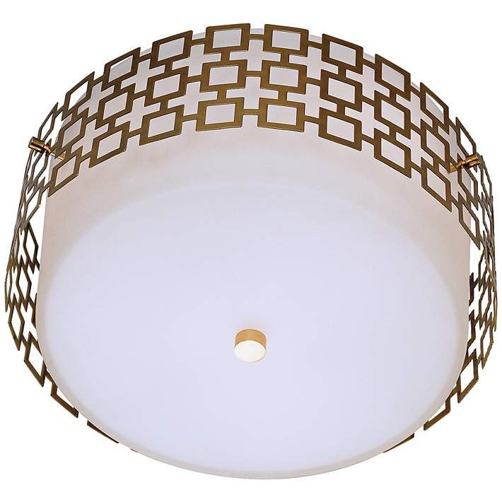 "Jonathan Adler Parker 15 1/4"" Wide Brass Ceiling Light - #H0677 