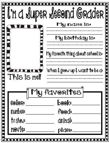 All About Me Printables for Back to School #Free #Freebie #B2S