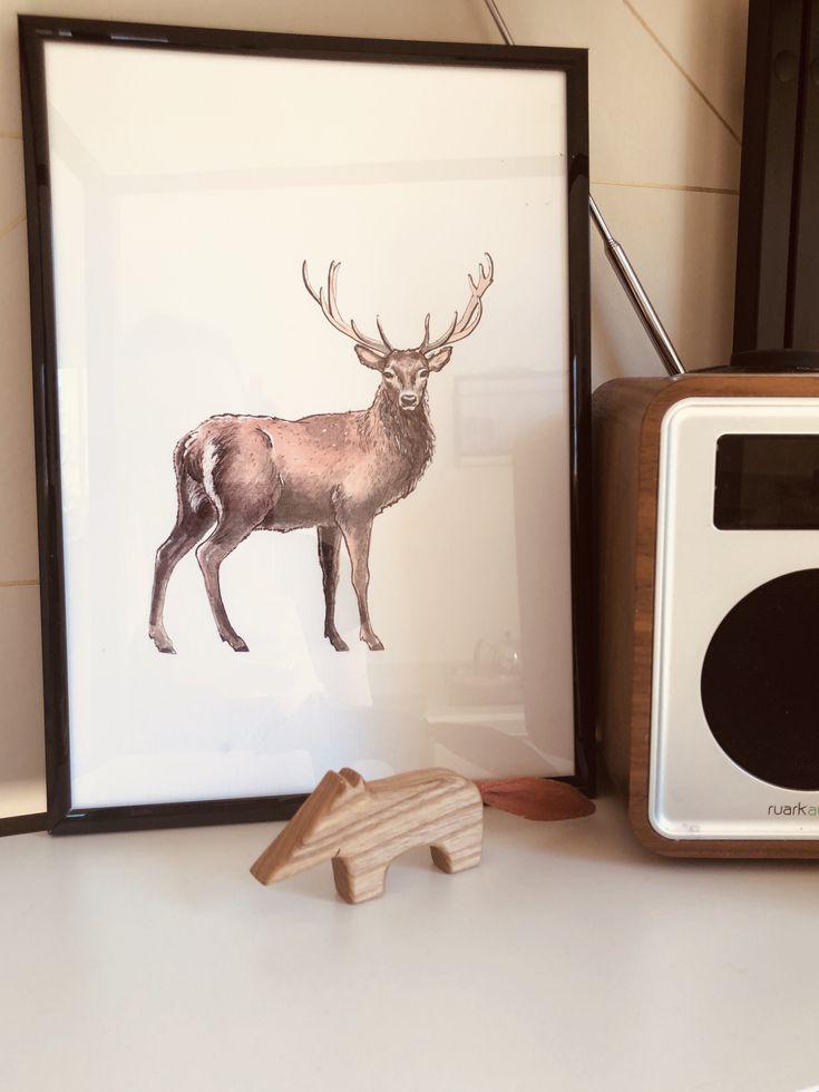 Super schönes Bild fürs Kinderzimmer, Thema Waldtiere