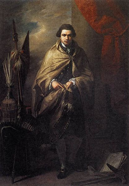 'Portrait of Joseph Banks' (1773) by Benjamin West (1738-1820).  Location:  Usher Art Gallery, Lincolnshire, England.