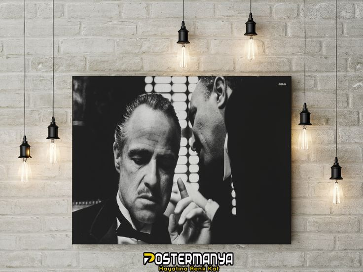 The godfather black white movie poster canvas printing high quality available in many sizes gifts