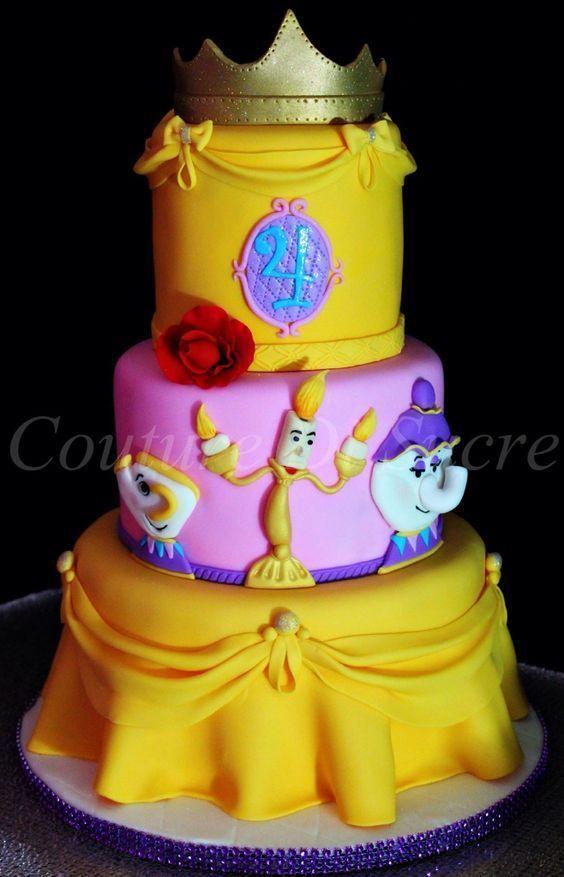 la bella y la bestia tortas de cumpleaños