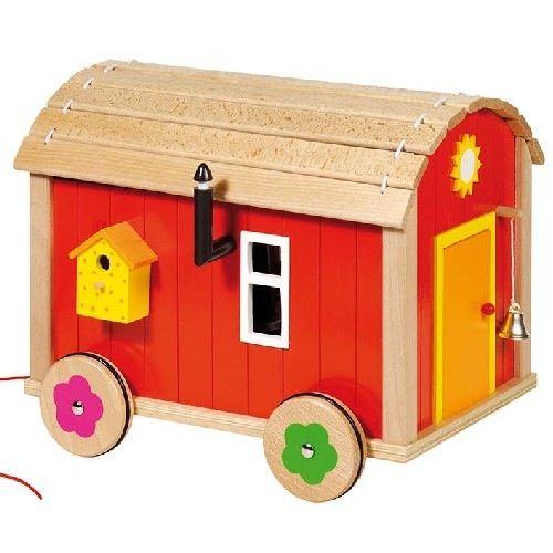 Image of Wooden Caravan Trailer Set