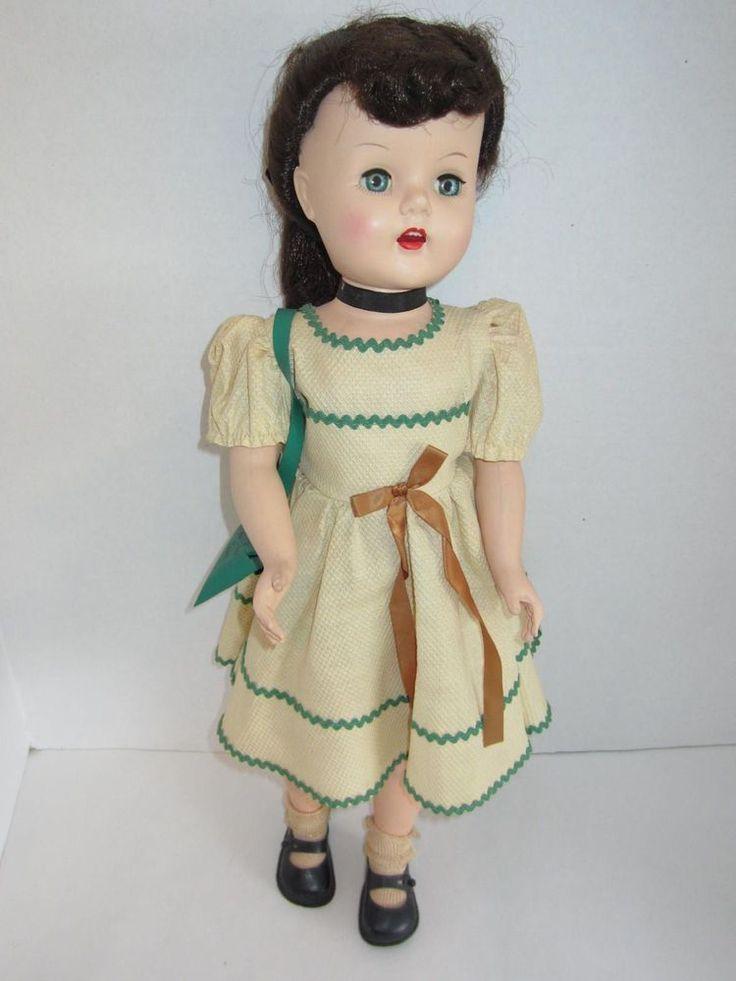 "Vintage 1950's 21"" Lu Ann Simms Doll w/ Orig. Outfit ~ Arthur Godfrey Show ~ #RobertaDollCo #Dolls"