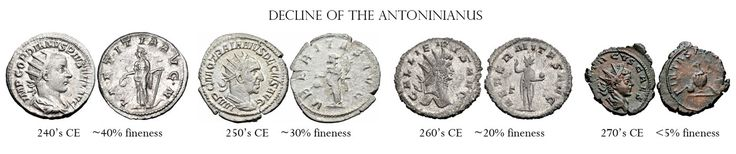 Decline of the antoninianus - Roman currency - Wikipedia, the free encyclopedia