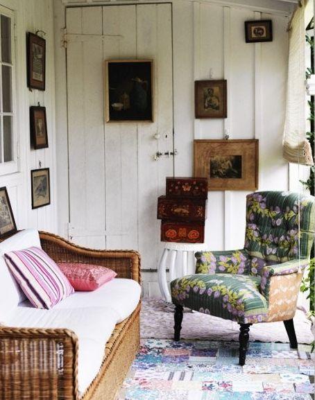 art. sibella court: Interior, Idea, Dream, Chairs, By, House, Porches, Vintage Decor