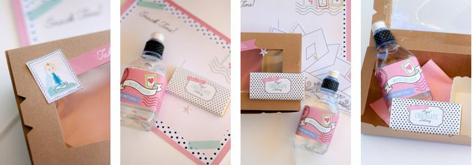 Sweet Magazine | Princess Postcard Party by Pretty and Print