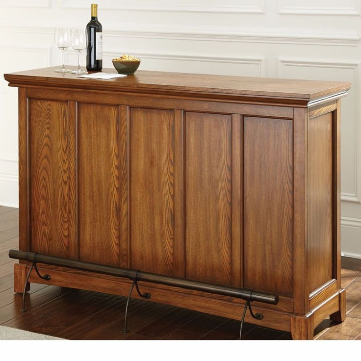 Bar Furniture For Home Wine Home Dry Bar Foot Rail Oak Wood