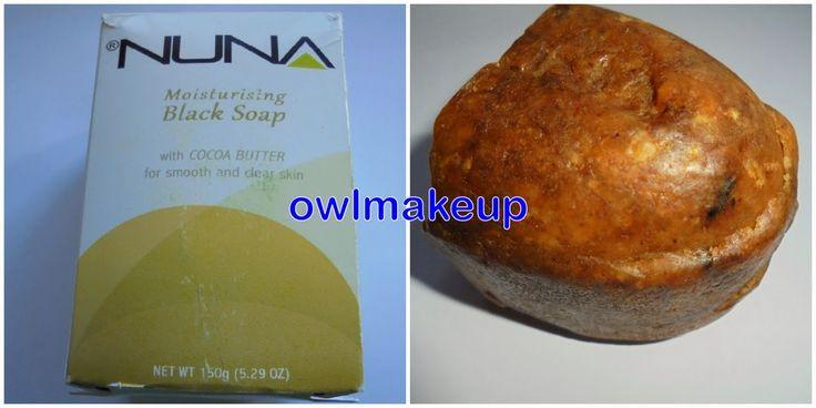 Jabón negro africano Nuna con manteca de cacao.