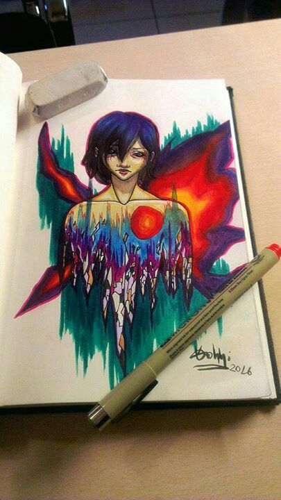 And she also drew this majestic Touka!