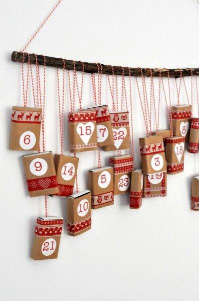 Gyufás doboz adventi naptár - Masni, Matchbox, washi tape advent calendar DIY
