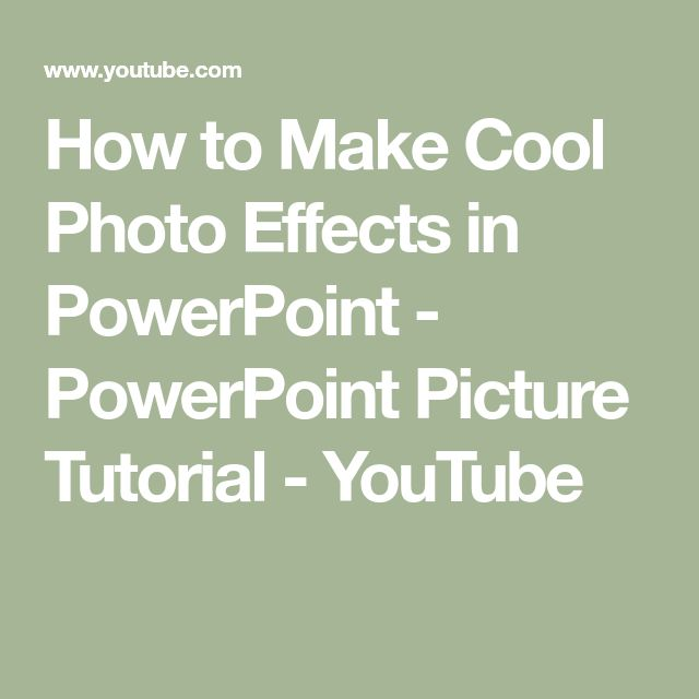 how to make cool youtube pictures