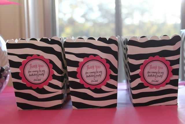 Hot Pink Barbie and Zebra Print Birthday Party