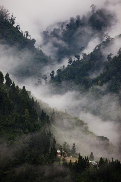 W.O.W! I wanna wake up to a view like this....@ Gangtok, Sikkim.