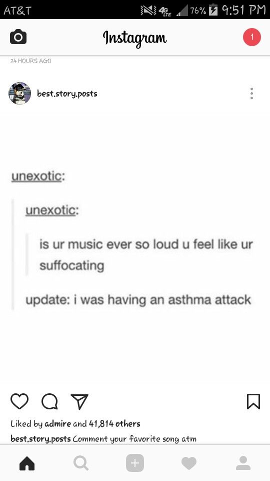Yes, or I was choking on air/developing asthma