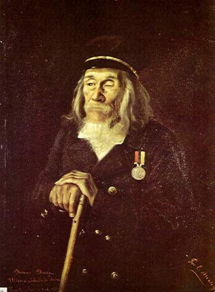"""Dimas Daza, o último soldado de Nariño"" (1882) - por Jose Eugenio Montoya (1858 - ?)"