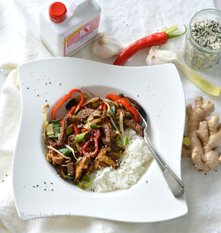 Oosterse biefstukpuntjes met wokgroenten (Miele-kookchallenge)