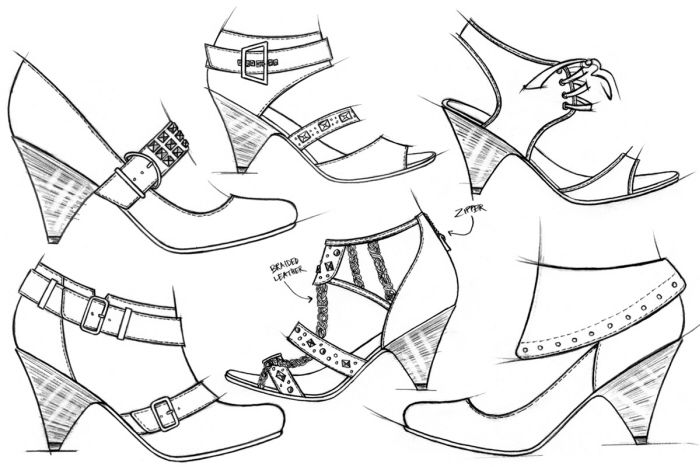 Footwear Sketches By Jason Clifton At Coroflot Com Shoe Design Sketches Sketches Vintage Sewing Patterns