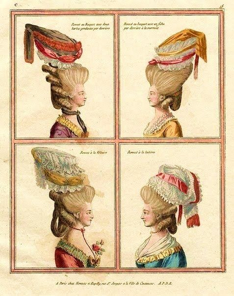 Is it any wonder head lice was rife?  Another fashion plate from France in 1777.