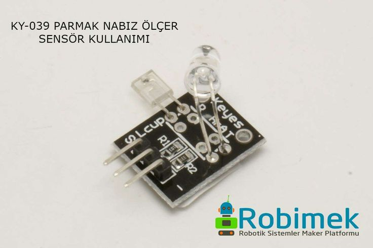 Using KY-039 Finger Pulse Sensor with Arduino #robimek #arduino #sensor #pulse