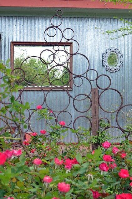 Ring trellis for garden