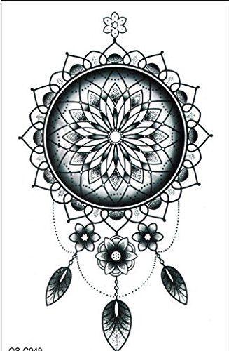 traumf nger tattoo schwarz einmal tattoo flash tattoo tattoo kleber f r arm k rper r cken bein. Black Bedroom Furniture Sets. Home Design Ideas