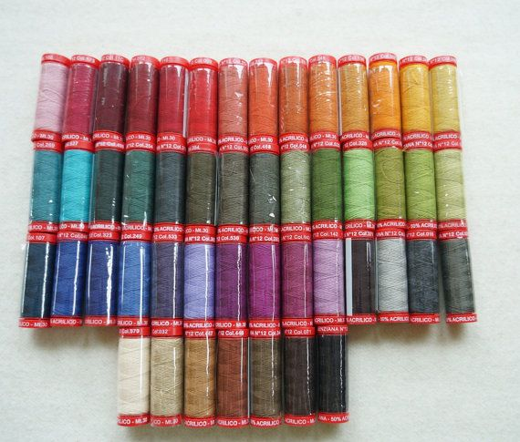Genziana Wool Thread Sampler Pack for Wool by quiltingacres