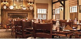 """The Grain House was the original """"Inn"""" from 1930 to 1977 with its historical theme and colonial charm surrounded in rich woods, striking hearths and richly beamed ceilings. Open on Easter and Thanksgiving. Child Friendly. New Jersey Leisure Guide rated this restaurant 2-1/2 stars out of 4 stars."""