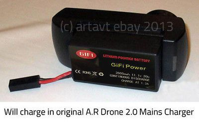 2 x 2300MaH Massive Upgrade Replacement Battery for Parrot AR Drone 2.0 Battery - http://www.midronepro.com/producto/2-x-2300mah-massive-upgrade-replacement-battery-for-parrot-ar-drone-2-0-battery/