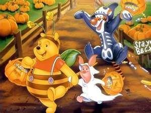 .: Funny Cartoon, The Saturday, Pooh Halloween, Dresses Up, Pooh Bears, Winniethepooh, Winnie The Pooh, Halloween Pictures, Happy Halloween