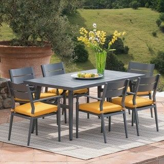 Overbrook - Parma Outdoor 7-piece Dining Set with Cushions by Corvus