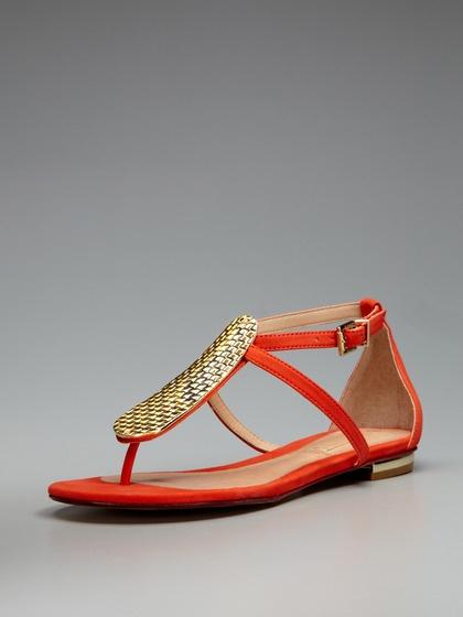 Devon Sandal: Turquoise Sandals, Schutz Devon, Shoesss, Turquoise Devon Sandals, Orange Shoes, Metals Things, Nice Colors, Women Flats Sandals