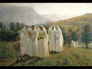 "Revelation 19 and 8 -  ""And to her was granted that she should be arrayed in fine linen, clean and white: for the fine linen is the righteousness of saints."""