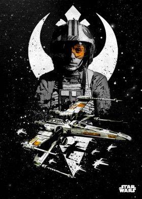 xwing pilot luke skywalker rebel star wars lucas