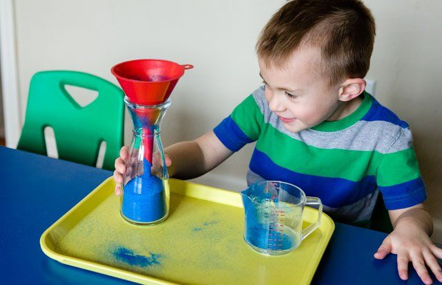 Dry Pouring - Narrow Neck with Funnel (Photo from KHT Montessori)