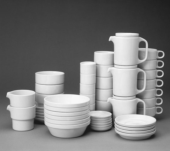 Nick Roericht's TC 100 stackable canteen crockery (1961), which was manufactured for many years by Rosenthal/ Thomas, was one of the best known student projects to have come out of the Ulm school