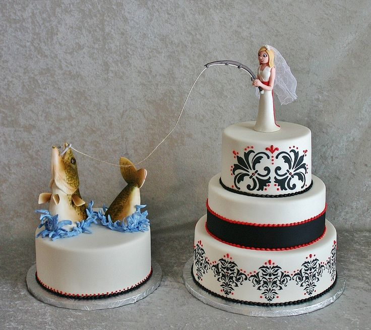 Best 25 fishing wedding cakes ideas on pinterest for Fishing cake toppers