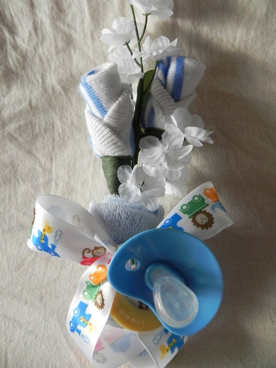 Baby Boy Expecting Mommy Baby Shower Corsage