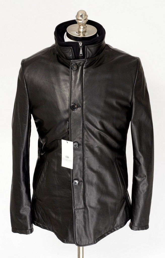 Leather and Cashmere come together, in this DI BELLO Italy DB535 Black Zip Car Coat 4Btn Jacket!  |  Have at it! http://www.frieschskys.com/leather/leather-coats-jackets  |  #frieschskys #mensfashion #fashion #mensstyle #style #moda #menswear #dapper #stylish #MadeInItaly #Italy #couture #highfashion #designer #shop